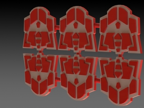 G2 Symbol Set Of 6 in White Strong & Flexible