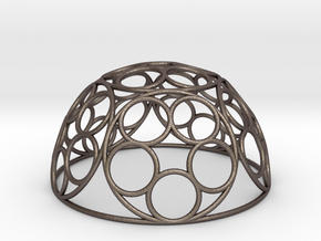 Ring Dome in Polished Bronzed Silver Steel