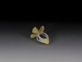 Bow Ring in White Natural Versatile Plastic