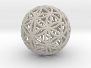 Special Edition 55mm Thick Flower Of Life in Natural Sandstone