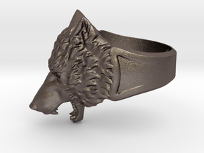 Wolf Head Ring in Stainless Steel