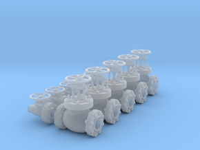 1/18 SCALE FIRE VALVES in Smooth Fine Detail Plastic