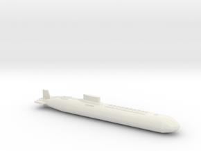 Typhoon Class Sub, Full Hull, 1/1250 in White Natural Versatile Plastic