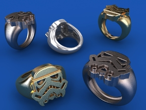 Strooper Ring 19,8mm in Polished Bronzed Silver Steel