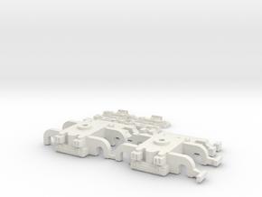 CTA Clark B-2/3 Trucks and 3rd Rail Beams in White Natural Versatile Plastic