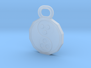 Dudeist Pendant (Heads on Both Sides) in Smooth Fine Detail Plastic