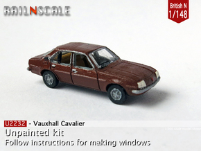 Vauxhall Cavalier Mk1 (British N 1:148) in Smooth Fine Detail Plastic