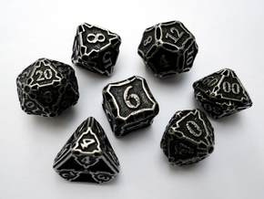 Premier Dice Set with Decader in Polished Bronzed Silver Steel
