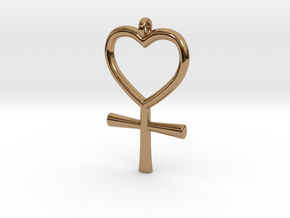 Venus Charm in Polished Brass