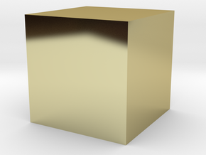 A Cubic Centimetre Cube [CCC] in 18k Gold