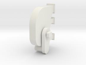 'HO Scale' - Bucket Elevator - Head in White Natural Versatile Plastic
