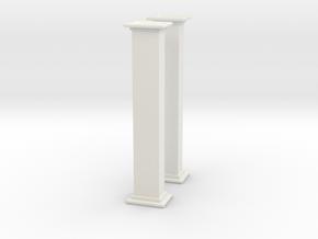 'HO Scale' - Bucket Elevator - 10' Casing in White Natural Versatile Plastic
