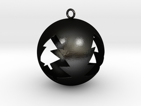 Tree Bauble Christmas Tree Ornament in Matte Black Steel