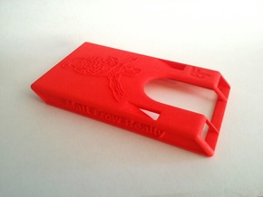 "Business Card Holder 3.5"" x 2"" in Red Processed Versatile Plastic"