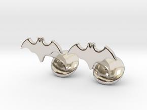 Batman Dead End Cufflinks in Rhodium Plated Brass