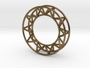 Mens Framework Ring in Polished Bronze