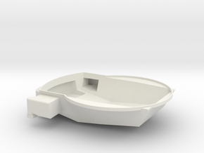 381mm Tripple Turret-ponoko-AA in White Natural Versatile Plastic