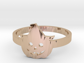 [Halloween] Pumpkin with hat in 14k Rose Gold