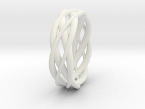 Mobius ring braid  in White Natural Versatile Plastic: 8 / 56.75