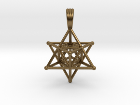 MERKABAH (pendant) in Natural Bronze