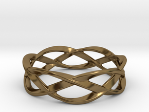 Weave Ring (Small) in Polished Bronze