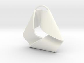 Mobius Triangle Charm (Small) in White Processed Versatile Plastic