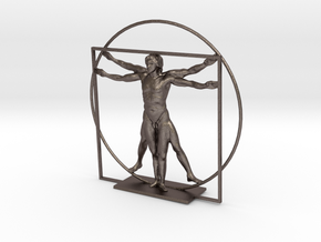 The Vitruvian Man - Antiques in Polished Bronzed Silver Steel
