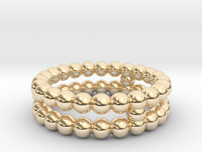 Ring Sphere 2 in 14k Gold Plated Brass