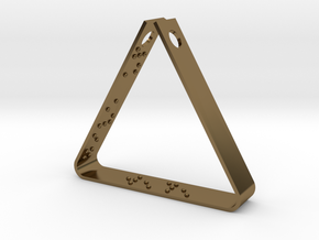 """""""Never Ever Give Up"""" Braille Triangle Pendant in Polished Bronze"""