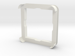 Roller 6 Frame in White Natural Versatile Plastic
