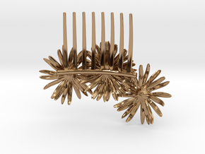 Daisy Comb in Polished Brass