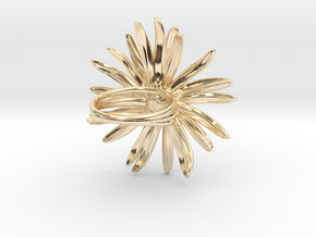 Daisy Ring in 14k Gold Plated Brass: 6 / 51.5