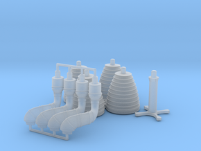 H-1 Engines Later Version (1:72 Inboards ONLY) in Smooth Fine Detail Plastic