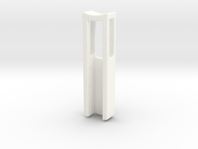 Three Round Gemstone Channel Pendant in White Processed Versatile Plastic