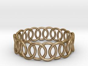 Ring Bracelet 65 in Polished Gold Steel