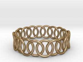 Ring Bracelet 73 in Polished Gold Steel