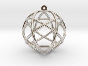 """Penta Sphere Pendant 1.5"""" in Platinum"""