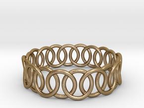Ring Bracelet 75 in Polished Gold Steel