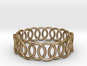 Ring Bracelet 78 in Polished Gold Steel
