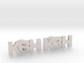 Monogram Cufflinks KBH in Rhodium Plated Brass