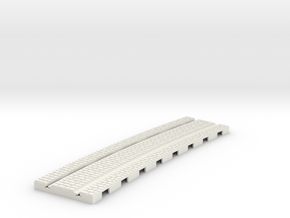 P-165stw-curved-610r-tram-track-12d-100-w-1a in White Natural Versatile Plastic