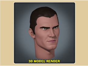 1:6 Scale Clint Walker Head in White Processed Versatile Plastic