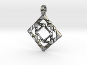 GALACTIC CUBE in Fine Detail Polished Silver