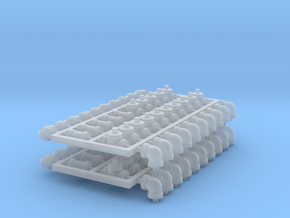Set 4in 2b-2 in Smooth Fine Detail Plastic