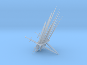 Iron Throne Business Card Holder in Smooth Fine Detail Plastic