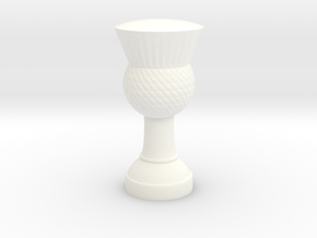 Thistle flag pole finial (strong plastic) in White Processed Versatile Plastic