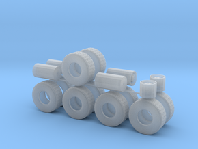 """1/50th Heavy 52"""" Oilfield or Off Road tires, set 2 in Smooth Fine Detail Plastic"""