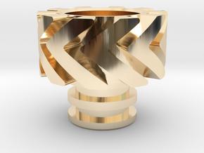 Warp Heat Sink in 14k Gold Plated Brass