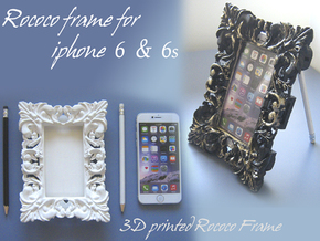 Iphone6 Rococo Frame Section in White Strong & Flexible