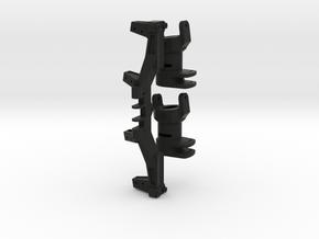 XL Axle Dual Servo Kit (w/ CHubs) For Steering in Black Natural Versatile Plastic